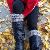 Crochet Boot Cuffs with Ruffles - Leg Warmers - Knee Warmers - Available in Many Colors - Winter Fashion 2014