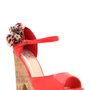 Summer Coral Cork Wedge Heels (Wide Width) | Shoes
