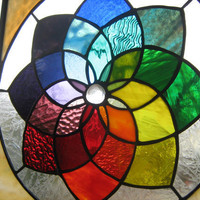 Colorific colorful stained glass color wheel by stanfordglassshop