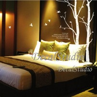 Love Trees and Birds-Vinyl Wall Decal Sticker Art,Bedroom Home Decor