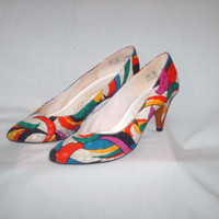 Vintage 1980s Colorful Pumps