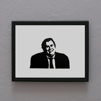 Uncle Buck John Candy Hand cut black silhouette papercut