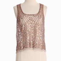ready for glamour sequined top