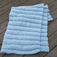 Organic cotton blanket baby blue