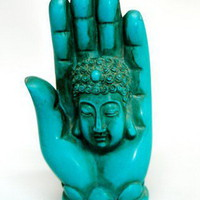 Tibetan Turquoise Buddha Hand