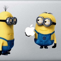 Despicable Me Minions Mac Decal Macbook Stickers by ileiss