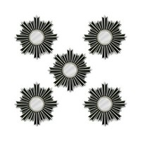 Fetco Home Décor U1655 Our Arlo Sunburst Decorative Wall Panels (Set of 5) - Decor Universe