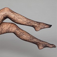 Black Rose Lace Tights
