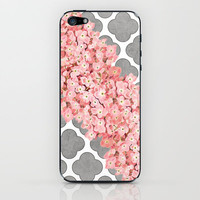 hydrangea and gray clover iPhone &amp; iPod Skin by her art | Society6