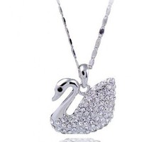 Silver Animal Swarovski Crystal Pendant Sterling Silver Necklace