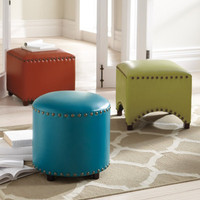 Nailhead Ottoman Trilogy