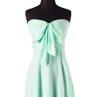 Havana Cabana Bow Dress - Mint -  $52.00 | Daily Chic Dresses | International Shipping