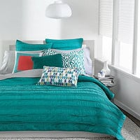 Bar III Bedding, Solid Teal Ruffled Coverlet Collection - Bedding Collections - Bed &amp; Bath - Macy&#x27;s