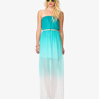 Ombré Maxi Dress w/ Belt