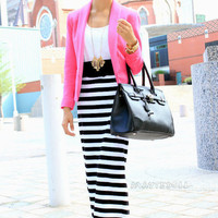 All Stripes Maxi Skirt - Furor Moda - Tops - Dresses - Jackets - Vintage