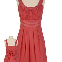 Contrast Stitch Scoop Neck Dress - maurices.com