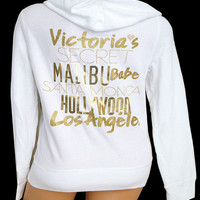 New Victoria's Secret Supermodel Essentials LA Los Angeles Hollywood Hoodie L