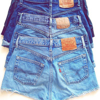 Vintage High Waisted Denim Shorts (All Sizes)