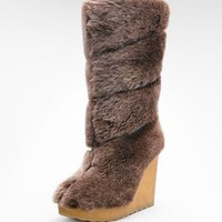 Tory Burch Kiki Shearling Wedge Boot