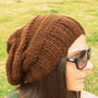 Brown slouchy hat,handmade hat,slouchy beanie,knit hat,women hat,white hat,winter accessories