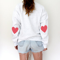 Elbow Heart Sweatshirt  Bubblegum Pink by MFjewels on Etsy