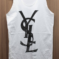 YSL - Yves Saint Laurent Tank Top handmade drawing & screen