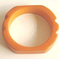 Carved Vintage Bakelite Bangle Bracelet