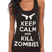 Keep Calm And Kill Zombies Girls Tank Top - 483601