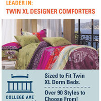 Desert Passage Twin XL Comforter Set - College Ave Designer Series Dorm Bedding Set Cotton Colors