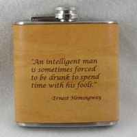 Valentines Day Gift for Men Flask with by KillorglinCreations