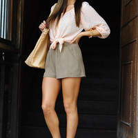 I Spot Gold Blouse: Pale Pink | Hope's
