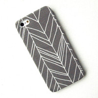 Fabric Grey Chevron iPhone 5 Case