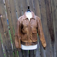 Vintage Worn In Rugged Leather Bomber Aviator by Trustfund21
