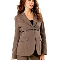 Amazon.com: A Pea in the Pod: Belted Bi-stretch Suiting Maternity Jacket: Clothing