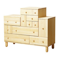 IKEA PS 2012 Chest and add-on unit - pine - 51 1/8x18 7/8x42 7/8/52 3/8 &quot; - IKEA