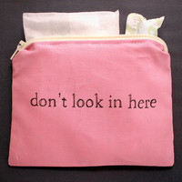 INdiscreet Zip Pouch for Tampons, Menstrual Pads, Feminine Products - don't look in here