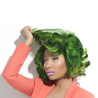 GREEN ENVY  // (2) Nicki Minaj Inspired Hair Extensions // Clip-In // Human Hair