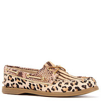 Sperry Topsider Shoe A/O 2-Eye in Brown Multi Animal Print