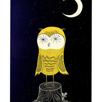 Print Shop - Night Owl / Art Print
