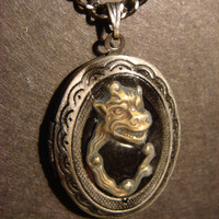 Steampunk Dragon Locket Necklace  Unique by CreepyCreationz