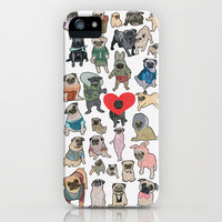 Pugs iPhone Case by Yuliya
