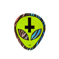 Alien Patch // Iron On Back Patch