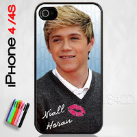 Custom Apple iPhone 4/4S Niall Horan Gray Sweater Case Cover One Direction 1D