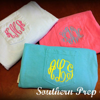 Comfort Colors Brand Monogrammed Pocket Tee