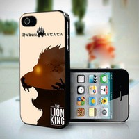 Hakuna Matata The Lion King design for iPhone 5 case