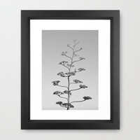 One false Leaf  ~Silver~ Framed Art Print by RichCaspian | Society6