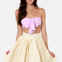 Havana Cabana Lavender Bandeau Top