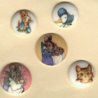 Beatrix Potter pictorial buttons