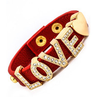 LOVE Rhinestones Bracelet