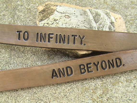 To Infinity And Beyond His n Hers 5/8 inch by leathermadenice